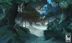 Fearful Tales - Orchard, Vanja Todoric on ArtStation at https://www.artstation.com/artwork/fearful-tales-orchard