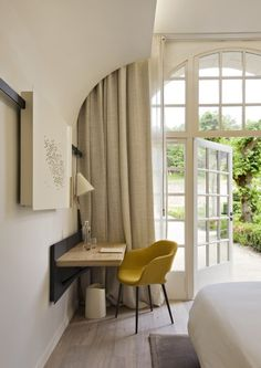 A room at the new Fontevraud L'Hotel in the 12th-century Fontevraud Abbey, Loire Valley, France | Remodelista