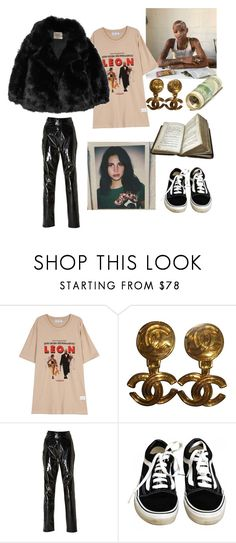 """""""grunge"""" by comerttaylan ❤ liked on Polyvore featuring Chanel, Zeynep Arçay, Vans, The Row, lanadelrey, Leon, grunge and slickwoods"""