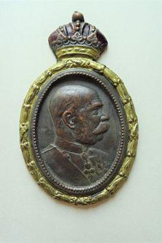 K.u.K. kuk Austria Österreich Bronze Kaiser Franz Joseph Habsburg Krone Portrait | eBay