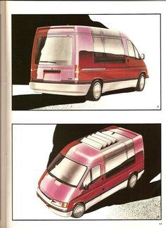 Car Design Sketch, Car Sketch, Ford Transit Camper, Deep Drawing, Van Design, Cool Sketches, Design Studio, Automotive Design, Old Cars