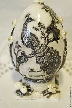 Image result for LARGE DECOUPAGE EASTER EGGS