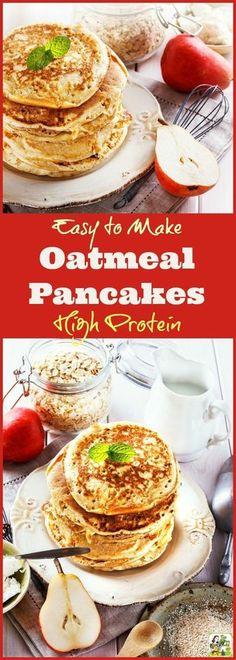 Greek Yogurt Oatmeal, Greek Yogurt Protein, Greek Yogurt Pancakes, Yogurt Breakfast, Protein Breakfast, Oatmeal Protein Pancakes, Vegan Oatmeal, Gluten Free Recipes, Healthy Recipes