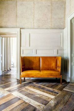 Your floors don't have to be plain. These are some great examples of dynamic design work that give life to a room.