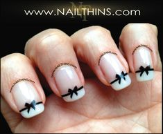 Black Bow Nail Decal  Bow Nail Art  NAILTHINS by NAILTHINS on Etsy, $4.00 Adorable