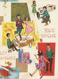 Vintage Wrapping Paper - Fun!! by my-name-is-annie, via Flickr