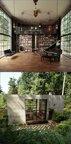 Olson Kundig's The Brain, built in Seattle, WA. I like the idea of combining musicroom and library