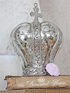 Mercury glass crown