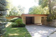 Alvin Miller House, Charles City Iowa. Frank Lloyd Wright. Usonian Style. 1946