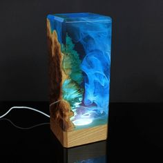 Ocean waves, trapped in resin for ever... #LampBasteln