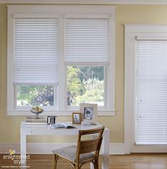 Wood blinds are a clean, crisp, and great way to dress up your windows!
