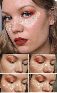 Face Paint Makeup, Eye Makeup Art, Makeup Eye Looks, Cute Makeup Looks, Orange Makeup, Colorful Eye Makeup, Creative Makeup Looks, Simple Makeup, Natural Makeup