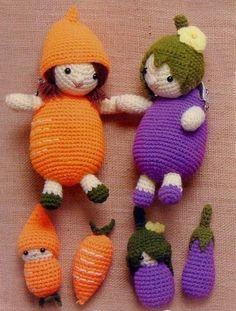 Crochet Vegetable dolls