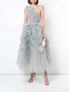 Marchesa ruffled one-shoulder gown #ad #dress #marchesa