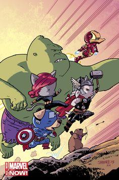 Avengers World – Artwork by Chris Samnee
