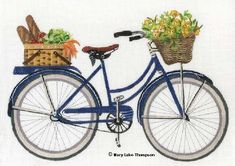 click here to view larger image of Bicycle Yellow Flowers (hand painted canvases)