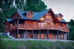 Huge Log House
