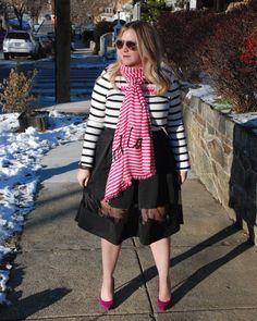 bonjour scarf; kate spade; midi skirt