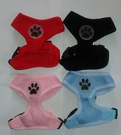 NEW Soft Air Mesh Padded Dog Harness - Red, Black, Pink or Blue - S/M/L