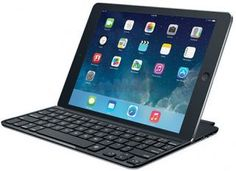 Logitech Ultrathin Keyboard Cover For iPad Air. How do you make your iPad even more perfect? Protect it with this ultrathin aluminum screen cover that doubles as a wireless keyboard for iPad. Just as you would expect from Logitech. Ipad Air Case, Ipad Air 2, Ipad Mini, Accessoires Ipad, Appel Video, Best Ipad, Ipad Accessories, Usb, Keyboard Cover