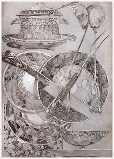 Documents Décoratifs, 1901 (59) - Alphonse Mucha I have LOVED this design page ever since I found it in my Sarah Simblett drawing book!!