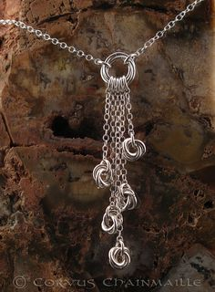 Knoted silver by Redcrow at Corvus Chainmaille, via Flickr