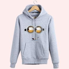 Minions-Despicable Me Hooded Pullover Couples Sweater