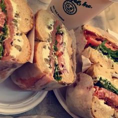 Ess-a-Bagel - New York, NY, United States. Lox & BLT bagels, both with…