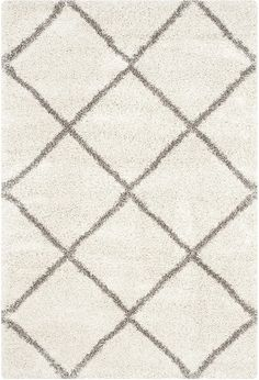 Irresistibly plush, this stylish rug from Safavieh's Hudson Shag Collection draws inspiration from traditional Moroccan designs and translates them into modern day sensibilities. This rug features a classic diamond trellis. Farmhouse Area Rugs, Farmhouse Design, Farmhouse Decor, Flokati Rug, Plush Area Rugs, Morrocan Rug, Turkey Colors, Minimalist Room, Polypropylene Rugs