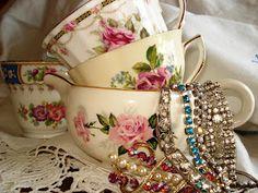 Teacups and Vintage Jewels