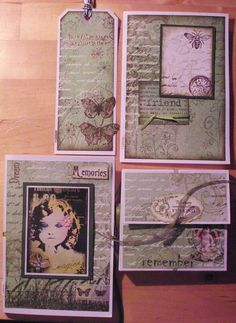 different things made with rubber stamps and mixed media by Lillibelle