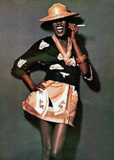 ergallais: Grace Jones by Rocco Mancino, 1975. Vogue Italia.
