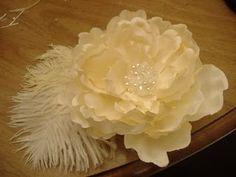 ¿como hacer un tocado de flor para el cabello?