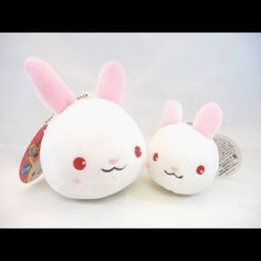"""Mommy and Me Bunny Rabbit Key Chain Bag Charm set White Mommy and me Bunny Rabbit Set. Rabbit measures 4"""" Bunny Measures 3"""". Ideal to put one on Mommy's purse and the other on kid's backpack. Cute and unique Birthday or Christmas gift Other"""