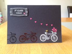 My hubby's Father's Day card. I used a retired set from Stampin Up called Pedal Presents.
