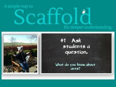 9 Steps To Scaffold Learning For Improved Understanding Scaffolding is not the enemy of rigor Instructional Strategies, Differentiated Instruction, Teaching Strategies, Teaching Resources, Science Resources, Learn Drive, Liberal Education, Teaching Techniques, 21st Century Learning