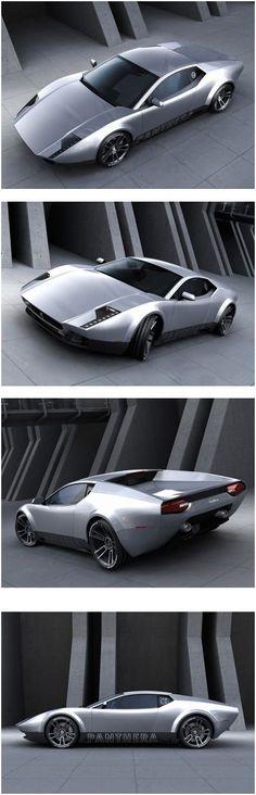 The De Tomaso Panthera concept is a contemporary redesign of the De Tomaso Pantera. The concept was created by German Designer Stefan Schulze (see Vector V8 Biturbo Concept), and is based on the mid-engine V10 Lamborghini Gallardo platform. #LamborghiniGallardo