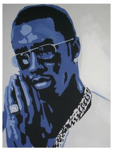 Painting of P. Diddy by Tanya Garland