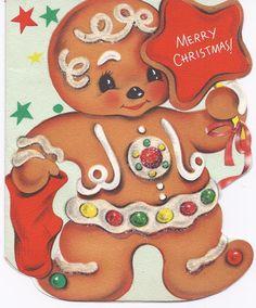 Vintage   Gingerbread Christmas Card