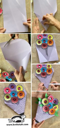 Mothers Day Crafts For Kids, Diy For Kids, Gifts For Mom, Fun Crafts, Arts And Crafts, Paper Crafts, Serviettes Roses, Flower Crafts, Activities For Kids