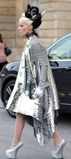 The fabulous Daphne Guinness takes off in Gareth Pugh.