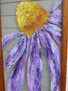 painting window screens | Original painting on an antique pine window screen ... | repurpose re ...