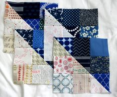 Second set of blocks for scrappy Swoon QAL, plus a great tip for speedy assembly
