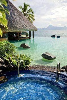 The Coolest Honeymoon Destination, Bora Bora, French Polynesia. Four Seasons!