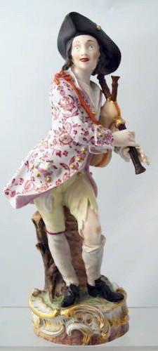 GROSSE MEISSEN FIGUR DUDELSACK SPIELER UM 1840 33.5 CM Make Ready, Instrumental, Harajuku, German, Ebay, Dolls, Disney Princess, Antiques, Disney Characters