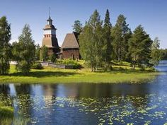 Old Wooden Church, Petajavesi, Near Jyvaskyla, The...