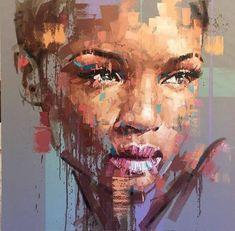African American Art, African Art, Art Afro, Art Africain, Arte Pop, Portrait Art, Figurative Art, Painting Inspiration, Painting & Drawing