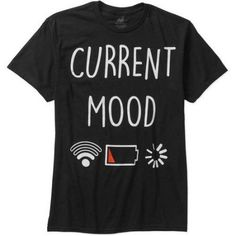 Current Mood Men's Graphic Tee, Size: XL, Black