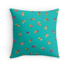 """""""Beeeees"""" throw pillow by Emerson Rauth on Redbubble."""