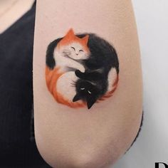 48 Totally Cute Cat Tattoo Ideas For Women - VIs-Wed - Cats tattoo. Cool Tattoos, Tattoo Project, Cat Tattoo Small, Body Art Tattoos, Animal Tattoos, Tattoos, Cute Tattoos, Cat Art, Beautiful Tattoos